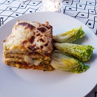 Homemade christmas lasagna